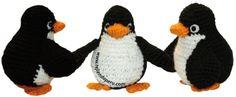 Tutorial completo para tejer estos pingüinos en crochet (amigurumi)