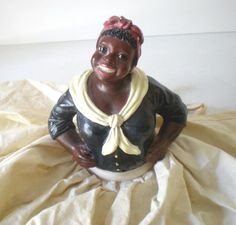 Vintage Chalk Mammy Half Doll Black Americana from californiagirls on Ruby Lane--Love her! $65