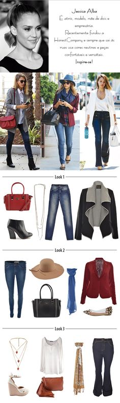 Get the Look | Jessica Alba #moda #look #jessicaalba #getthelook #inspiração #looknowlook