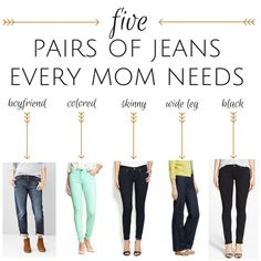 5 Pairs of Jeans Every Mom Needs in Her Closet