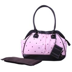 Baby Essentials Embroidered Dot Diaper Bag, Pink, $20.00