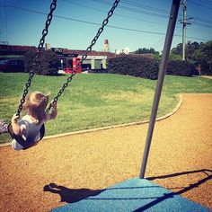What a perfect day! How are you spending it? A Perfect Day, Porch Swing, Outdoor Furniture, Outdoor Decor, Playground, Sunshine, Activities, Park, Ideas
