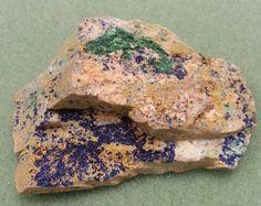 Azurite/Malachite Specimen from Morocco - AMS 3D Back Pictures, Azurite Malachite, Morocco, 3d, Etsy