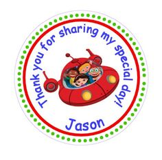Little Einsteins Thank You Favor Stickers by TootnBoo on Etsy, $6.00