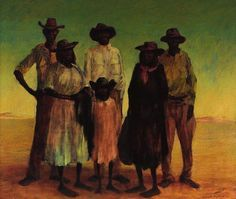 Group of Aborigines, (1953) by Russell Drysdale :: The Collection :: Art Gallery NSW