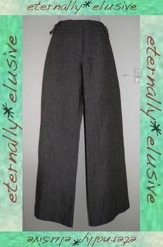 JASPER CONRAN Wide Leg Flare Smart Pant Trousers Women Ladies Size 16 44 W39 L31