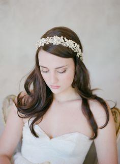 Grecian inspired gold flower headband - Style #512