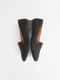 Madewell Teddy loafer in studded suede.