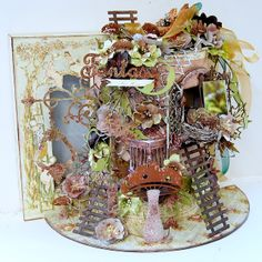 Trudi Harrison as Suits Me To A 'T' for PaperHaus with a dimensional tree house; Oct 2013