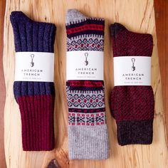 American Trench Wool Socks for Men