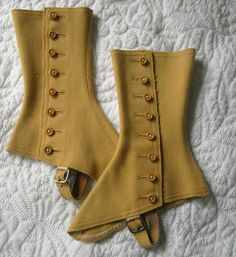 During the Victorian Era, shoe spats were commonly worn by both mean and women as accessories. Ross would probably wear shoe spats in order to accessorize his otherwise plain outfits.