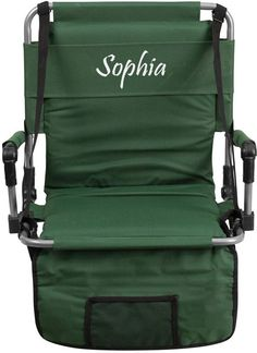 Threadart Folding Stadium Chair Bleacher Seat, Red | Walmart And Products