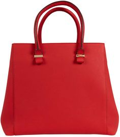 2bc7c8946b25 VICTORIA BECKHAM Red Liberty Leather Tote Bag Victoria Beckham Bags