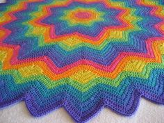 The No-End-In-Sight Ripple-Along - GROUP Blog: Round Rainbow Ripple Finished