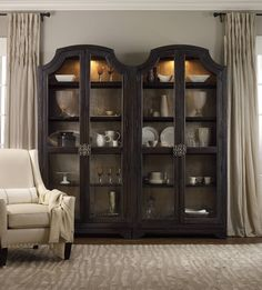Sanctuary Glass Bunching Curio-Ebony Antiqued Oak 3031-50001