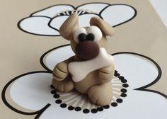 Polymer Clay Dog  by bdbworld on Etsy  No3 di bdbworld su Etsy, $6,00