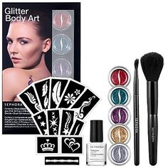 SEPHORA COLLECTION Glitter Body Art Kit. Sephora Glitter Body Art Kit. Limited Edition. Brand New Boxed Set.