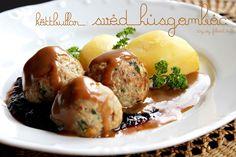Svéd húsgombóc (köttbullar) Baked Potato, Potatoes, Snacks, Ethnic Recipes, Food, Hands, Potato, Meals, Yemek