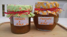 Saras madunivers: Fersken og æblemarmelade med citron og vanilje.