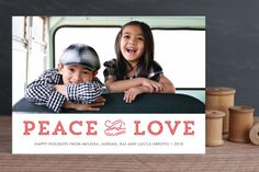 Holiday Peace and Love by Waui Design at minted.com