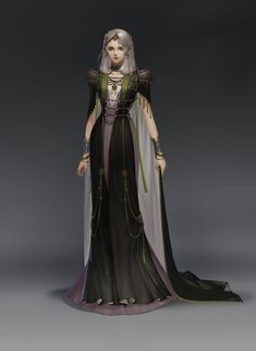 ArtStation - hi, super tang Female Character Inspiration, Fantasy Character Design, Fantasy Inspiration, Fantasy Gowns, Fantasy Girl, Character Portraits, Character Outfits, Foto Cartoon, Fantasy Costumes
