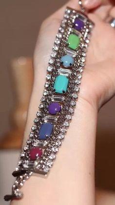 "JUICY COUTURE CHROME SILVER MULTI DIAMOND CHAINLINK TOGGLE BRACELET CHIC 7.6"" L   | eBay"