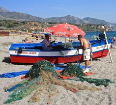local fishermen working on their nets Fishing Villages, Fishing Boats, Past, Community, Past Tense