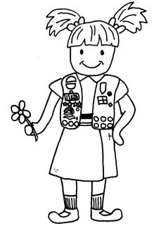 girl scout coloring pages | Welcome Signs for Daisies and Brownies ...