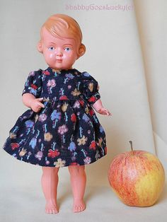 Schildkröt doll Inge German vintage celluloid  by ShabbyGoesLucky