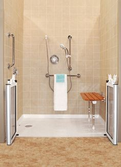 Dazzling Handicap Bathroom Decoration Ideas With Incredible Pictures For See more ideas about Bathroom, Ada bathroom and Handicap bathroom. For more inspirations, continue to our website! Accessible Bathroom Design, Traditional Bathroom, Shower Stall, Bath Design, Bathroom, Accessible Bathroom, Accessible Shower, Bathroom Shower, Bathroom Design