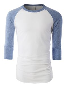 Mens Soft Triblend 3/4 Raglan Sleeve Baseball T Shirt