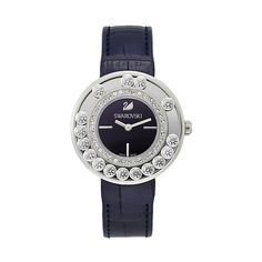 Swarovski Lovely Crystals Aubergine Watch ($499) ❤ liked on Polyvore featuring jewelry, watches, structure watches, heart jewelry, swarovski jewelry, heart watches and stainless steel jewellery