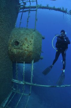 Scuba diving in Andros.