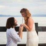 Proposal, Sesión de compromiso, e-session, Beach, Sunset, pareja, Portrait, Pre-boda, pre-wedding, Engagement session, Couple, Costa Rica, She said yes