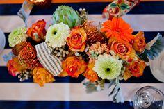 Fleur de Lis Event Consulting, Orange and Navy Nautical Tablescape, Pensacola Day Of wedding planner, Table Designs, orange and navyWedding Inspiration, Mirabel Photography, Gulf Coast Bride Magazine