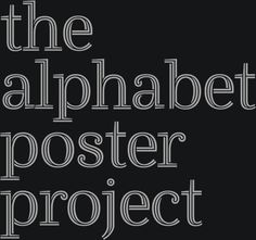 the alphabet poster project