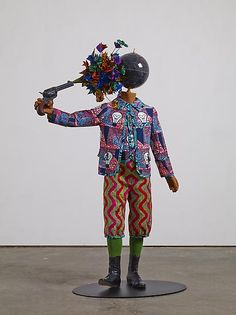Flower Power Kid (Suicide), 2013, by Yinka Shonibare