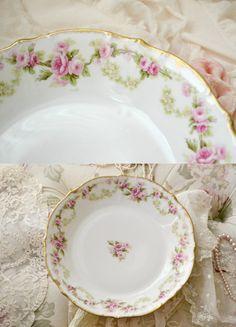Beautiful Antique Limoges Porcelain Bowl by Jenneliserose on Etsy