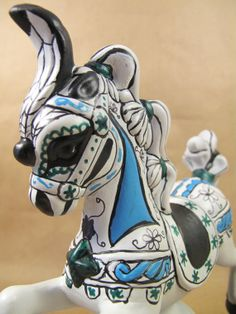 Ceramic Sugar Skull Horse by HorsenfefferHobbies on Etsy, $25.00