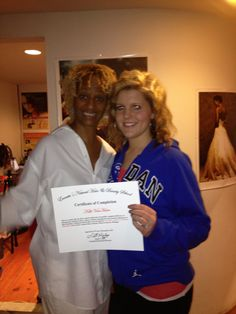 Everette's CEO & Master Natural Hair Culturist Sheila Everette- Hale with Everette Alumni Kelly. Kelly took our online course while attending Cosmetology School in Grand Rapids.  Natural hair license in voluntary, not mandatory in the state of MI.