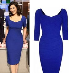 Where did Nigella Lawson get her blue dress from on The Taste 2/01/14? - Style on Screen