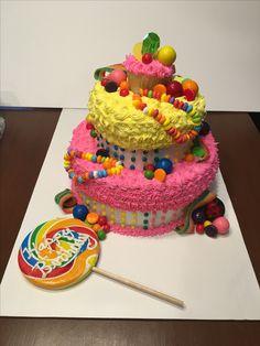 I Love Candy Triple Tier Cake