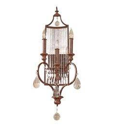 Feiss Gianna Scuro 3 Light Wall Sconce in Mocha Bronze WB1448MBZ