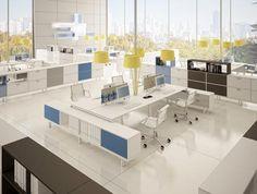 Un open space qui regrouperait les services supports Open Space Office, Bureau Open Space, Corporate Office Design, Office Cube, Office Workstations, Office Desks, Commercial Office Design, Desk Layout, Office Plan