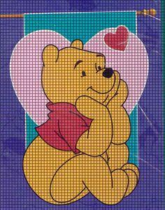 Pooh Bear In Love Crochet Pattern