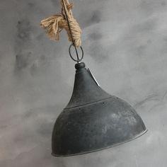 Metalen hanglamp met touw | Taatje, Wonen in stijl
