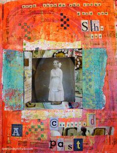 art journal page www.sparkledaysstudio.com