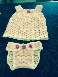 Pink dress & diaper cover