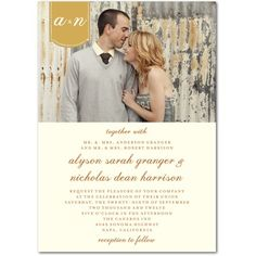 """Wedding Invitations - cute way to add that """"wood"""" detail to your invitations!  Take a picture in front of a barn."""