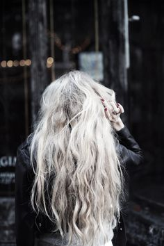 grey hair - long and beautiful